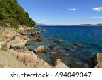 beautiful view of the adriatic... | Shutterstock . vector #694049347