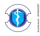 emblem for medical logo | Shutterstock .eps vector #694064587