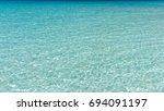 sea beach in maldives | Shutterstock . vector #694091197
