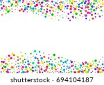 watercolor rainbow colored... | Shutterstock . vector #694104187