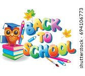 back to school  | Shutterstock .eps vector #694106773