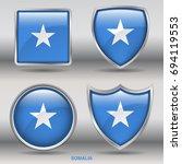 flag of somalia in 4 shapes... | Shutterstock .eps vector #694119553