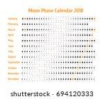 astrological calendar for 2018.... | Shutterstock . vector #694120333