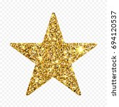gold glitter star. golden... | Shutterstock . vector #694120537