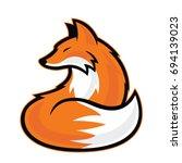 fox mascot | Shutterstock .eps vector #694139023