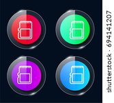 sd card four color glass button ...