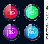 spa four color glass button ui...