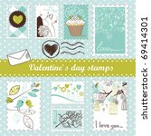 Set Of Valentine S Day Stamps