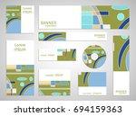 set of web banner templates for ... | Shutterstock .eps vector #694159363