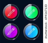 pencil four color glass button...