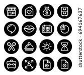 website menu navigation round...   Shutterstock .eps vector #694167637