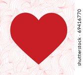 seamless valentine pattern | Shutterstock .eps vector #69416770
