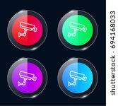 cctv four color glass button ui ...