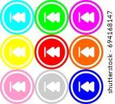 previous icon   circle sign... | Shutterstock .eps vector #694168147