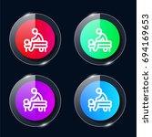 massage four color glass button ...