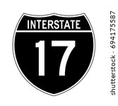 interstate highway 17 road sign.... | Shutterstock .eps vector #694175587