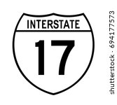 interstate highway 17 road sign.... | Shutterstock .eps vector #694177573