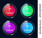 upload four color glass button...