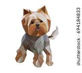 modern lowpoly  low polygonal ... | Shutterstock .eps vector #694184833