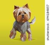 modern lowpoly  low polygonal ... | Shutterstock .eps vector #694184857