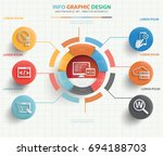 seo development info graphic... | Shutterstock .eps vector #694188703