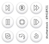 icon with white button 29 | Shutterstock .eps vector #69418921