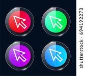 cursor four color glass button...