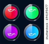 change car oil four color glass ...