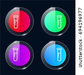 blood test four color glass...
