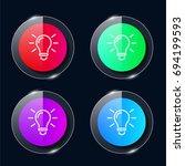 electric light bulb four color...
