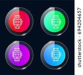 wristwatch four color glass...