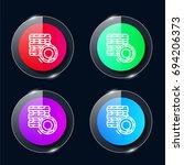 tire four color glass button ui ...