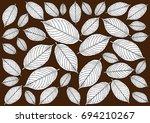 leaf background   illustration... | Shutterstock .eps vector #694210267