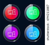 desktop four color glass button ...