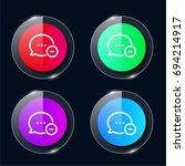 communication four color glass...