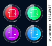 repeat four color glass button...