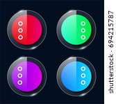 more four color glass button ui ...