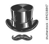 monochrome illustration of top... | Shutterstock .eps vector #694218847