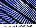 diagonal disposed wooden slat... | Shutterstock . vector #694222447