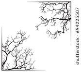 branch borders halloween black... | Shutterstock .eps vector #694225507