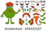 creating a monster from a set... | Shutterstock .eps vector #694232107