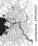 black   white vector map of...   Shutterstock .eps vector #694240327