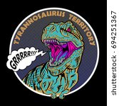 stock vector t rex dinosaur... | Shutterstock .eps vector #694251367