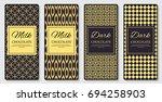 dark and milk chocolate bar... | Shutterstock .eps vector #694258903