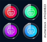 printer four color glass button ...