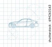 The Design Of The Car Drawing...