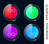 eyeglasses four color glass...