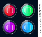 windows four color glass button ...