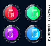 drugs four color glass button...