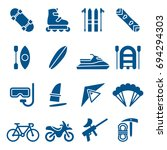 set of extreme sports icons.... | Shutterstock .eps vector #694294303